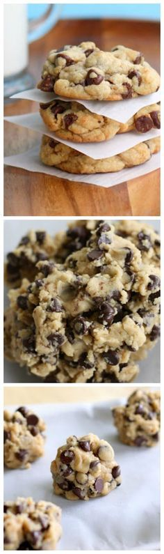 The Perfect Chocolate Chip Cookie - thick, chewy, and full of chocolate. http://the-girl-who-ate-everything.com