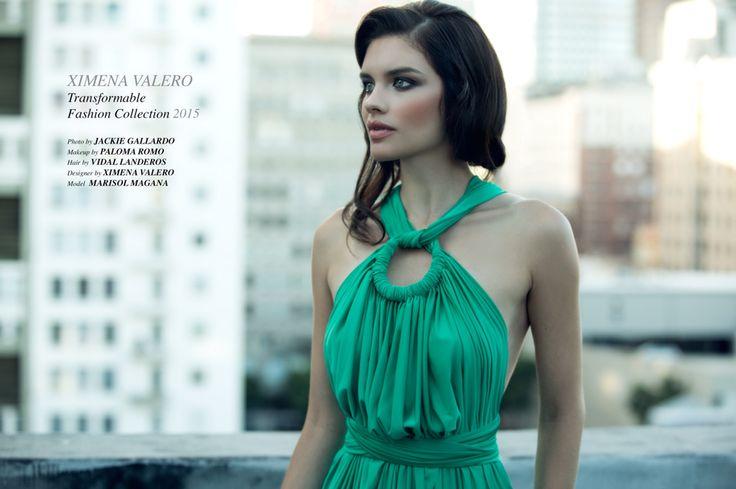 For Ximena Valero Fashion Designer by Jackie Gallardo. Makeup by Me Paloma Romo. Hair Stylists, Vidal Landeros. Model, Marisol Magaña