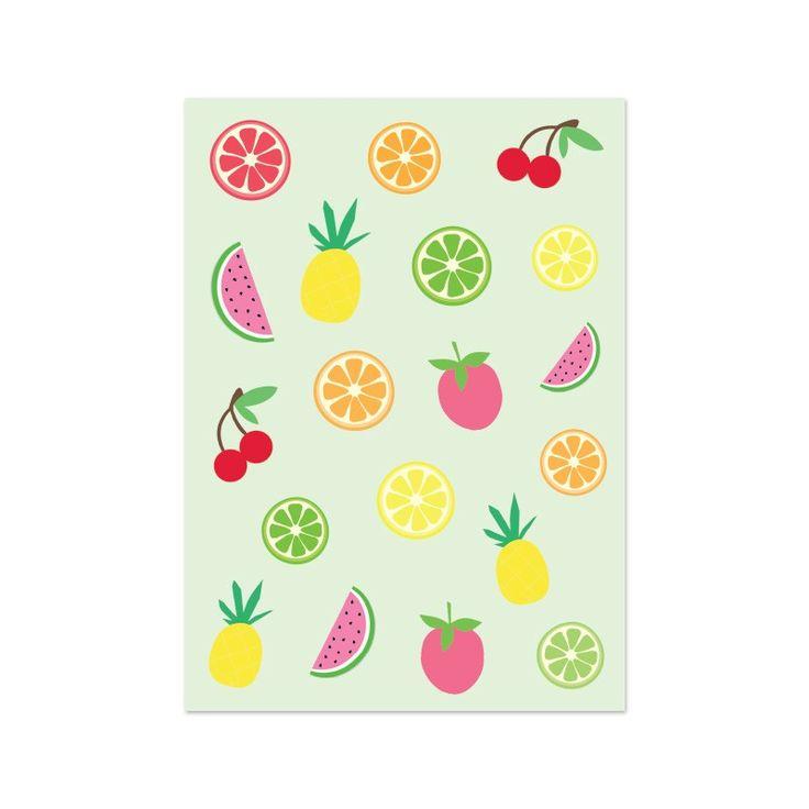 "Kaart ""summerfruit"" - Live Life Happy"