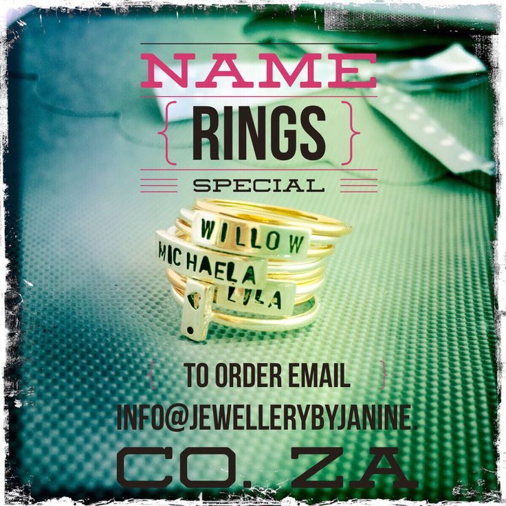 Personalized, stacking rings!