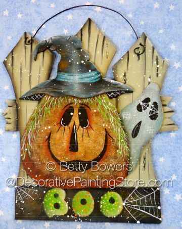 The Decorative Painting Store: BOO Pumpkin and Fence ePattern - Betty Bowers - PDF DOWNLOAD, All Pattern Packets