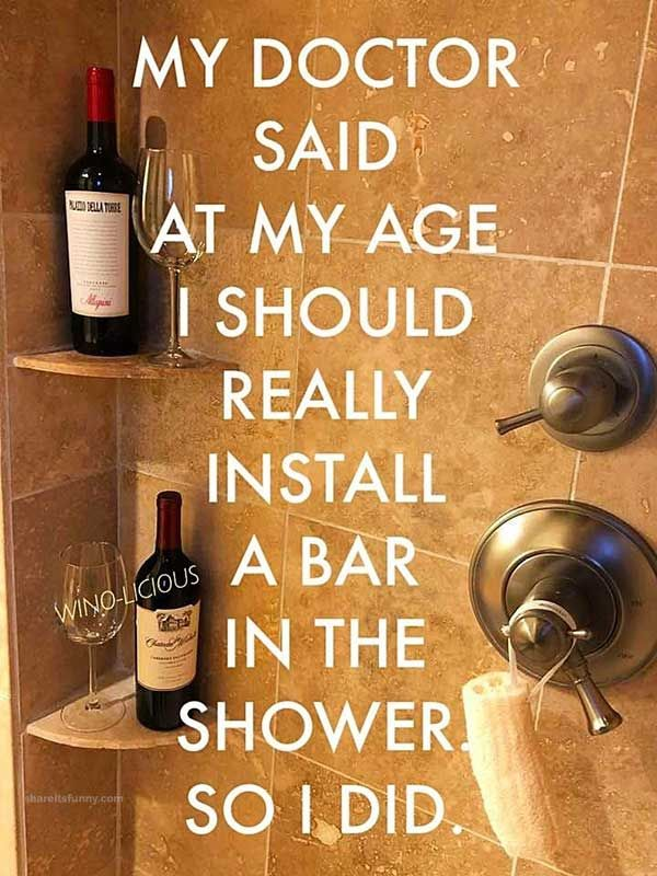 Image result for bar in the shower meme