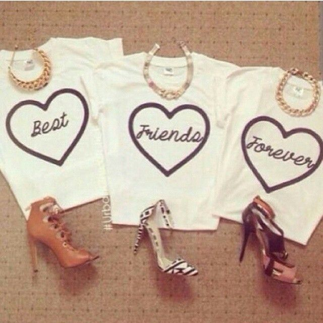 Best. Friends goals... T shirts for girls.. All sizes available.. INR 2000 for 3..