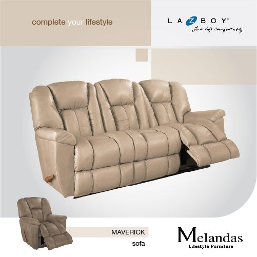"""Maverick"" is available as a recliner, or a 2 & 3-seater sofa, with each end seat moving independently for individual relaxation ;)"
