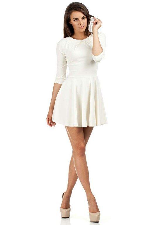 Dress length mini in shades of ecru