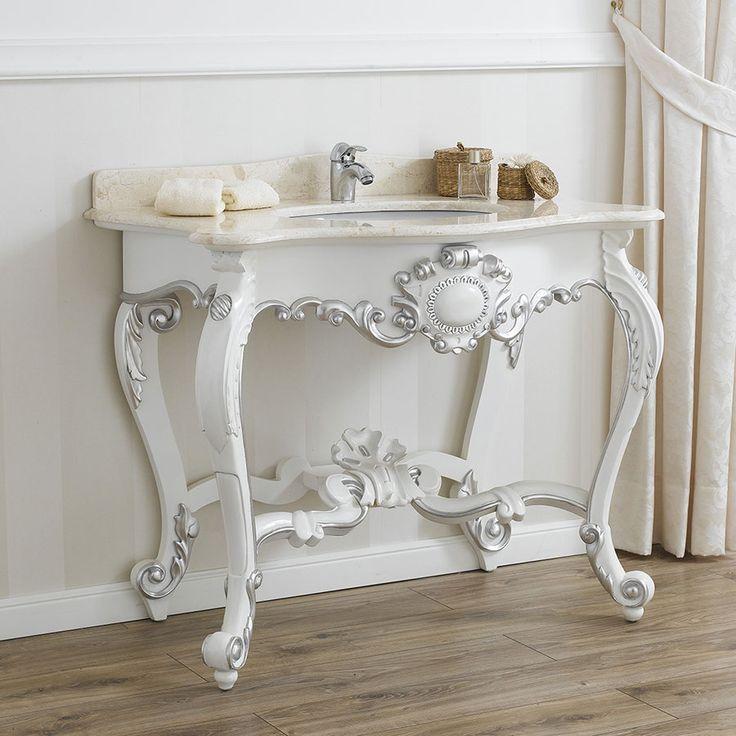 Oltre 1000 idee su mobili da bagno bianco su pinterest for Mobili stile barocco moderno