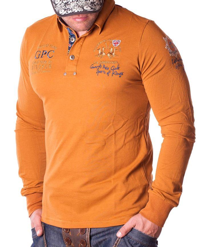 La Martina Polos de manga larga - Windsor Polo Club Naranja