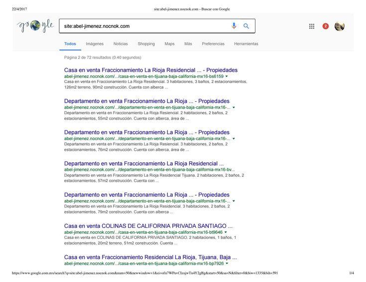 Index de google propiedades inventario antiguo y nuevo de abel jimenez en la plataforma nocnok inmob