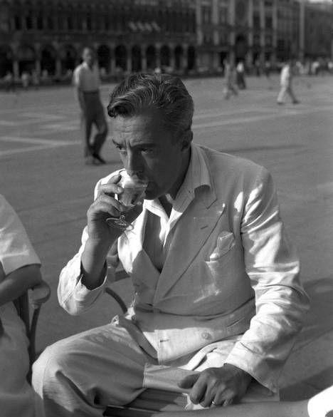 Ιtalian director and actor Vittorio De Sica in Venice, 1947