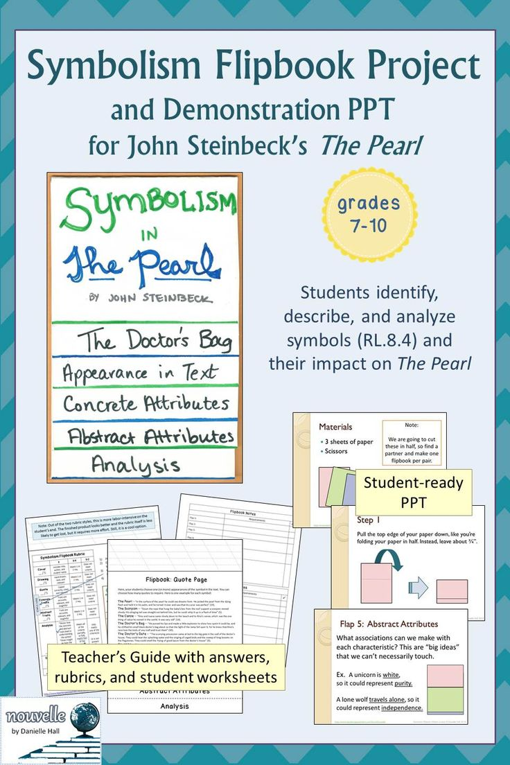 best images about the pearl common cores symbolism flipbook project demonstration powerpoint for john steinbeck s the pearl ela 7