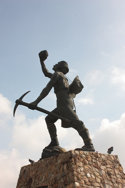 Miner's statue, Johannesburg by Kleinz1, via Flickr