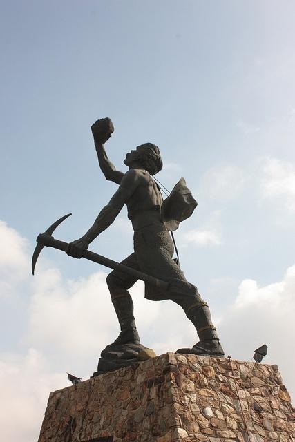 Miner's statue, Johannesburg by Kleinz1, via Flickr