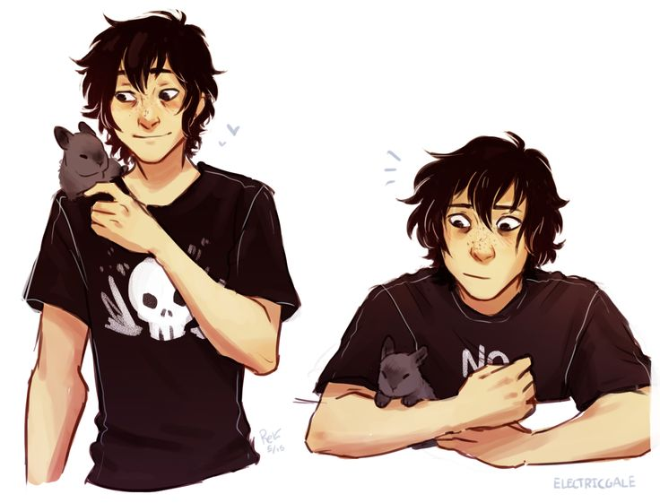 """electricgale: """"nico with a small bunny friend (shout out to abby for causing me to draw this) """""""