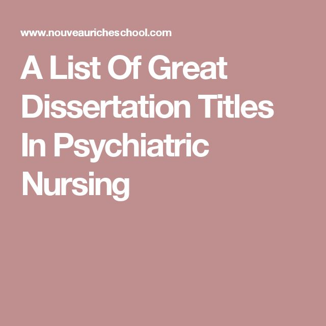 Thesis title for nursing