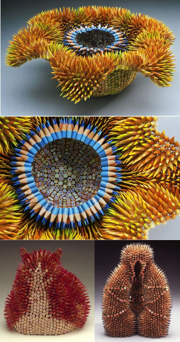 Colored Pencil Sculptures by Jennifer Maestre | 21 Works Of Art For The Office Supply Fetishist In You