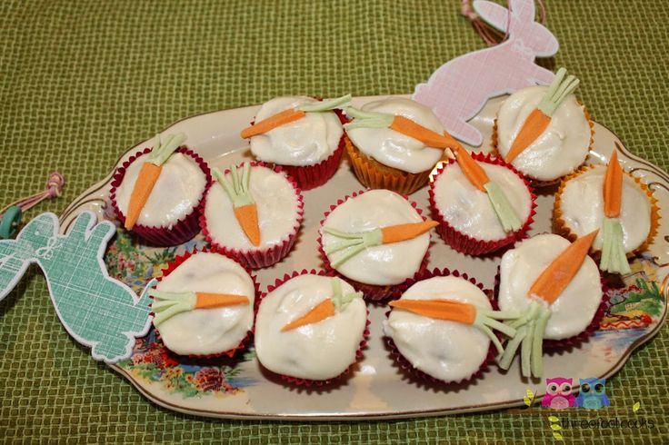 Carrot and Banana Muffins - Need a chocolate free Easter treat?  These are delicious.