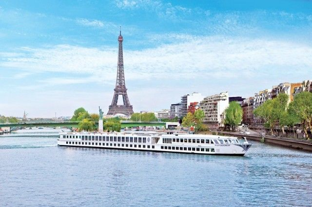 Uniworld's River Baroness sails between Paris and the coast of Normandy. Photo courtesy of Uniworld Boutique River Cruise Collection.