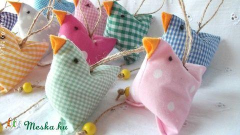 Meska - Húsvéti csibék barka ágra kridacountry kézművestől
