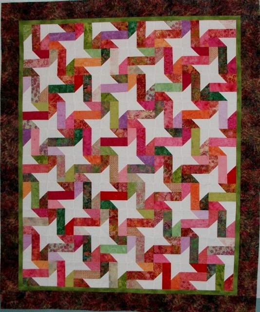 Simple to make, but looks great! Quilt