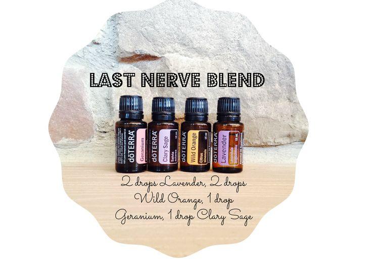 Down to your last nerve? Diffuser Blend! #doterra #essentialoils #diffuser (www.kellysessentialoils.com)