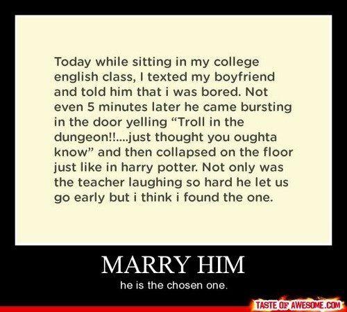 : ): Boyfriend, Stuff, Guy, Quote, Harrypotter, Funny, Harry Potter