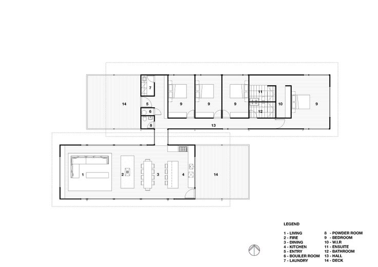 Sugar Gum House by Rob Kennon Architects, plan, house