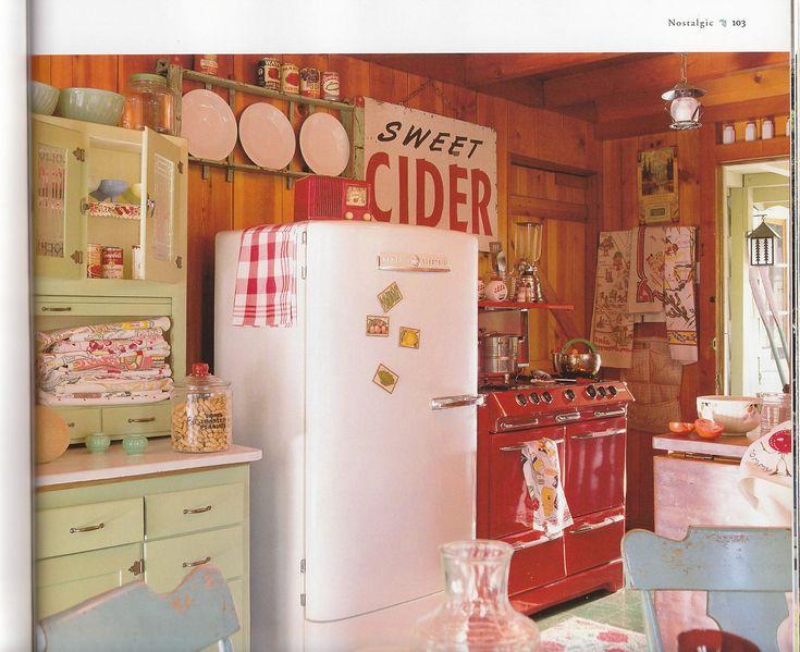 vintage kitchen. free standing
