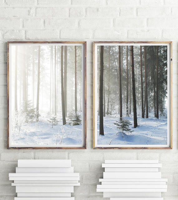 Forest Print Set Of 2 Prints Nature Photography Winter