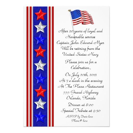 military retirement party invitation