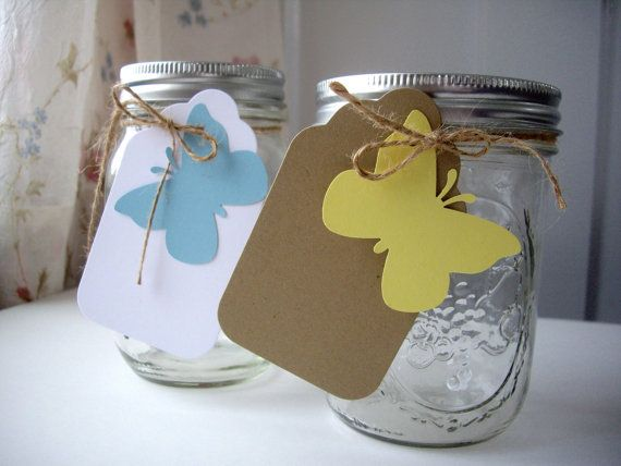 butterfly wedding tags butterfly gift tags by JDooreCreations, $9.50