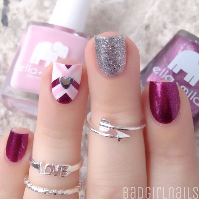 Happy valentines day nails designs are the perfect chance to get both creative and to look unique. We treat you with a nice compilation of this love holiday nail art. #nails #nailart #naildesign #valentinsnails