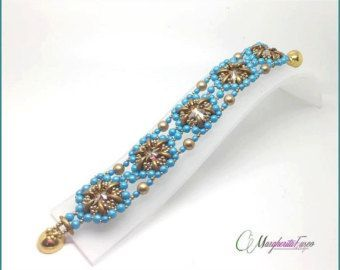 This tutorial will teach you how to make Rossella Bracelet You will receive PDF file with step by step instructions, tips and pics. Language: english and Italian You will immediately download PDF file after PayPal payment notification receipt. Happy beading!! Marghe #jewelrytipsandpics