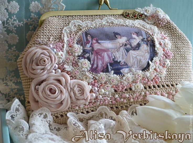 Вязаные крючком сумочки. Современное ретро. Beautiful crocheted handbags...