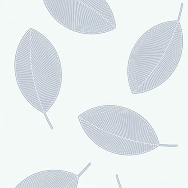 Grey floating leaf design wallpaper from Marimekko Essentials by Galerie - 13032