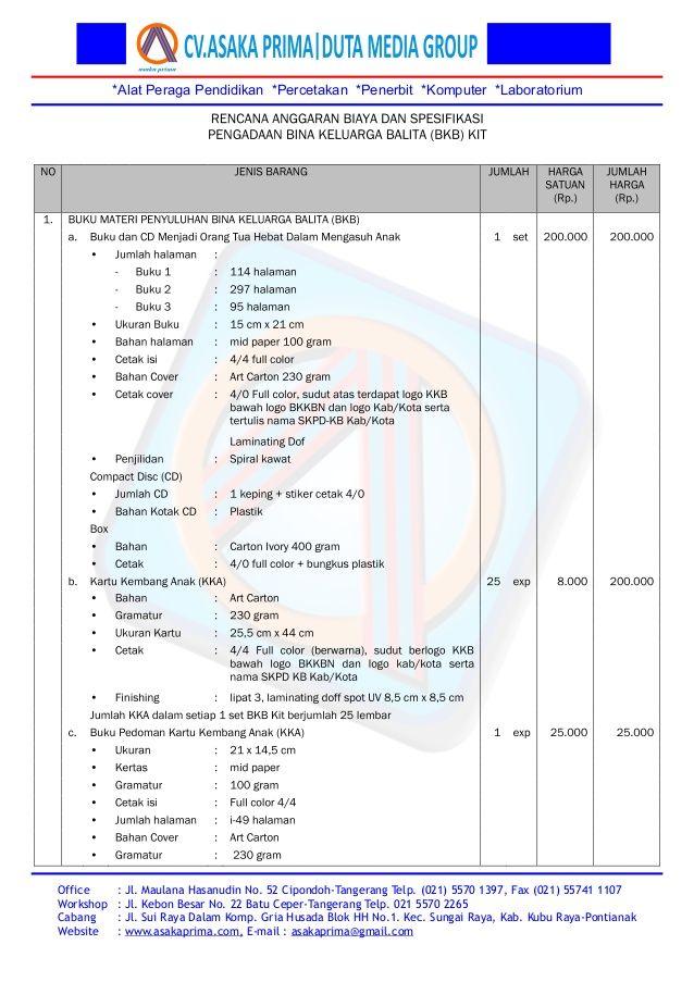 PENGADAAN BKB KIT 2015 ~Paket bkb kit dak bk kb n 2015