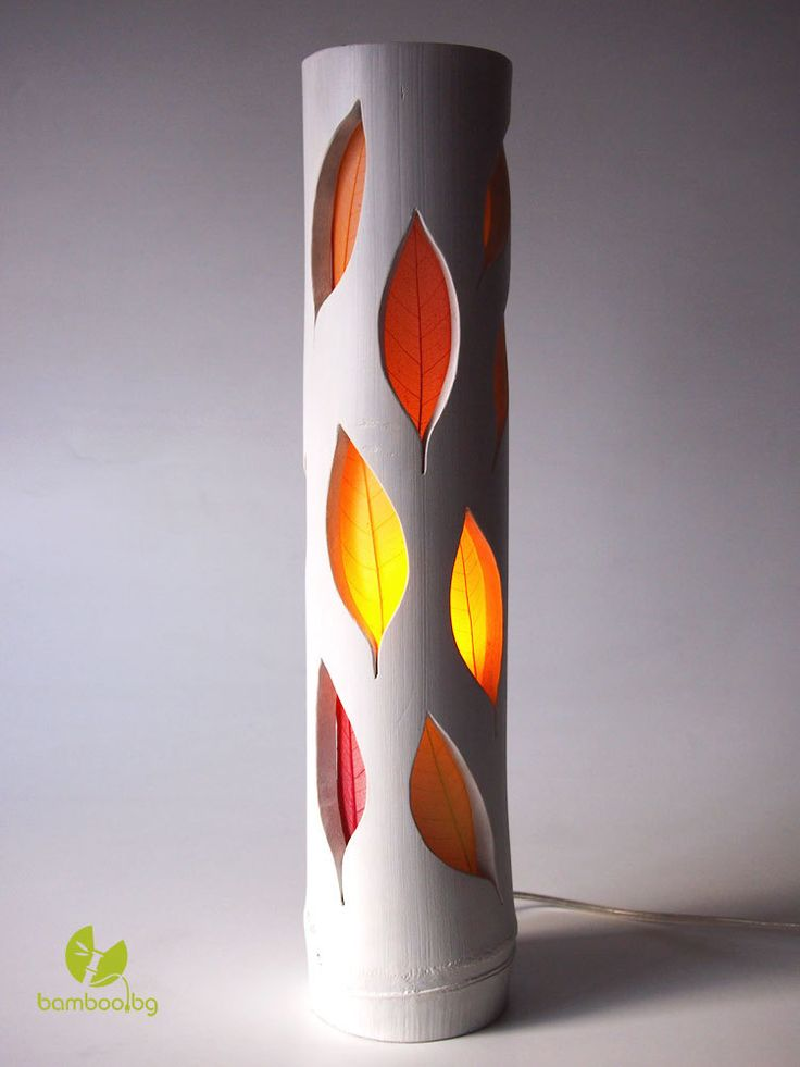 Steampunk Lamp Bamboo Lamp Wood Light Table Lamp LED Lamp