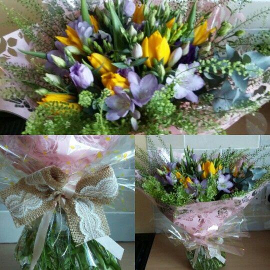 Tulips and freesias www.facebook.com/pickmefloristry