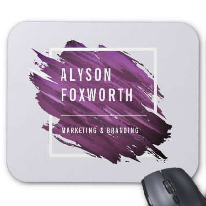 Abstract Paint Logo Custom Mouse Pad - logo gifts art unique customize personalize