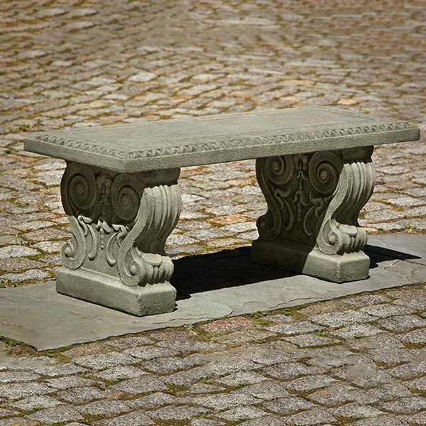 Classic Cast Stone Outdoor Garden Bench Bench Cast Classic