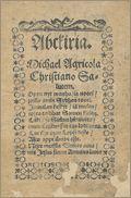 Agricolan Abckirian alkuosa alkuperäiseen asuun digitoituna