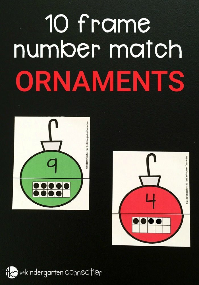 Add this Christmas Ornament 10 Frame Number Match game into your Christmas theme and practice number skills with your preschoolers or kindergarteners.