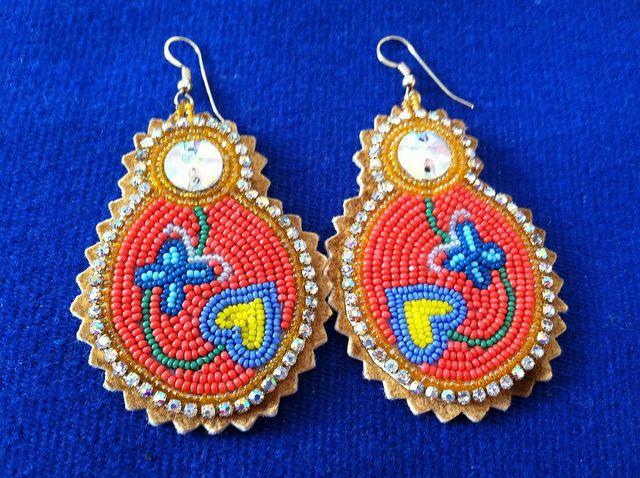 Beaded Earrings look like matryoshka
