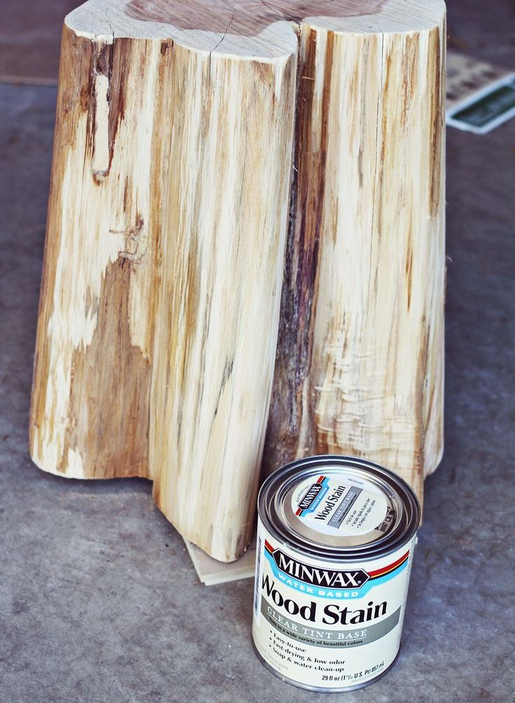 Great how to for diy tree stump side tables but i would for Diy wood stump side table