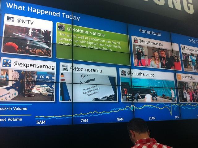 Samsung Twitter wall