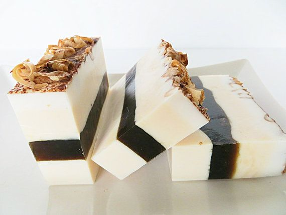 Tiramisu Soap returns to Etsy just in time for the holidays for you to Indulge in a sweet little treat without the calories! Each layer is made in