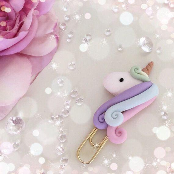 Pastel Rainbow Unicorn Paperclip...