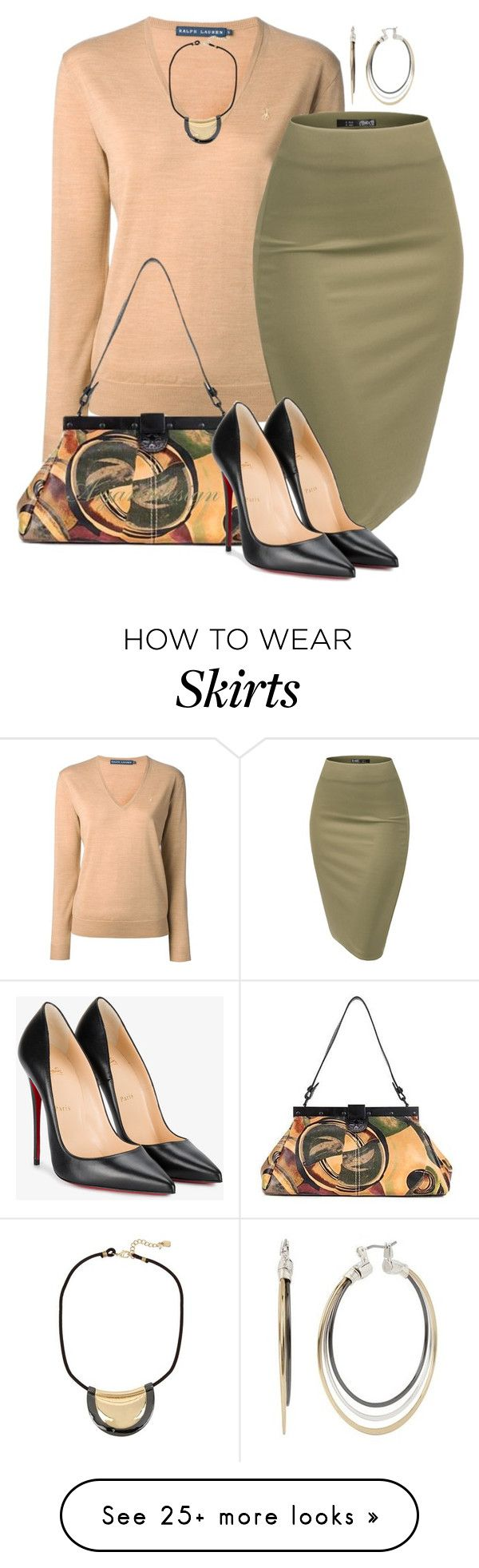 """COUNTDOWN TO FALL"" by arjanadesign on Polyvore featuring Ralph Lauren Blue Label, Patricia Nash, Christian Louboutin, christianlouboutin, ralphlauren, fall2017 and PatriciaFerrara"