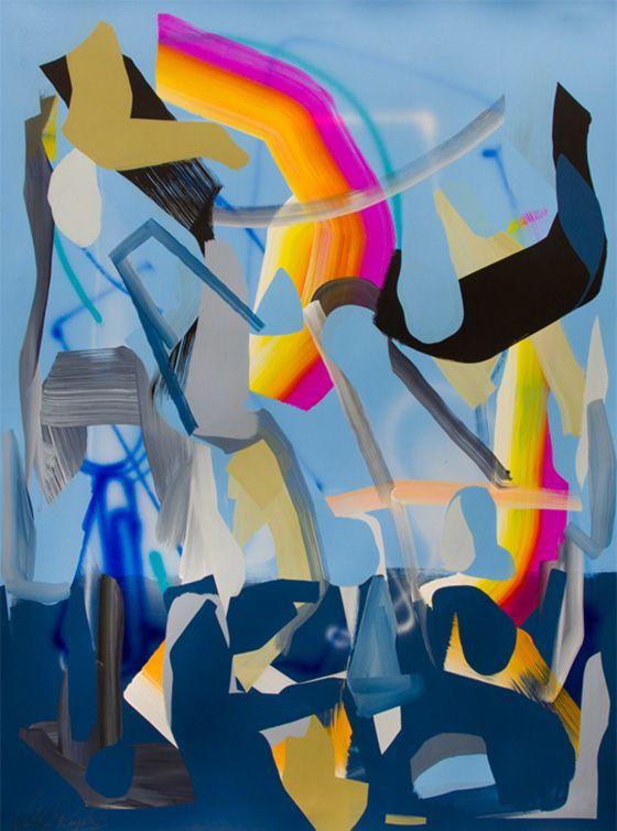 Victor Reyes' dynamic paintings sort of look how the inside of my brain has been feeling thepast few weeks....