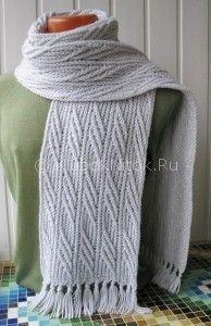Шарф «Иней в ноябре» от Chyara | Вязание мужское | Вязание спицами и крючком. Схемы вязания.