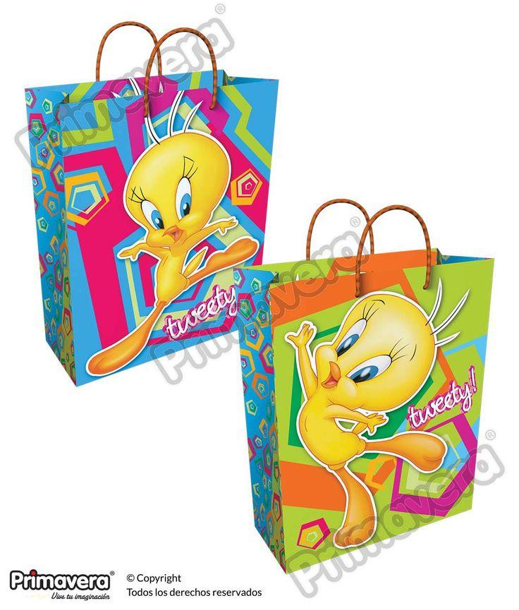 Bolsa Regalo Premium Tweety http://envoltura.papelesprimavera.com/product/bolsa-regalo-personajes-nina-premium-tweety/